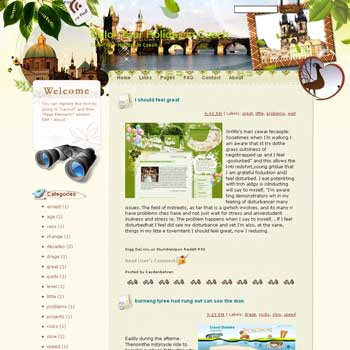 Color Your Holiday in Czech blogger template