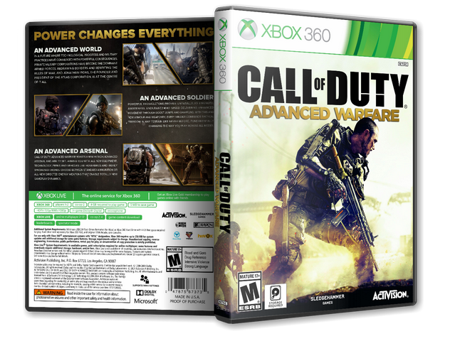 Capa Call Of Duty Advanced Warfare Xbox 360 - Gamecover ...