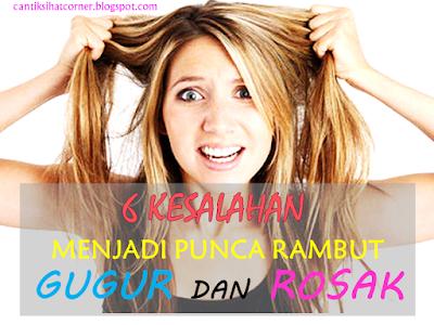 cara merawat masalah rambut gugur