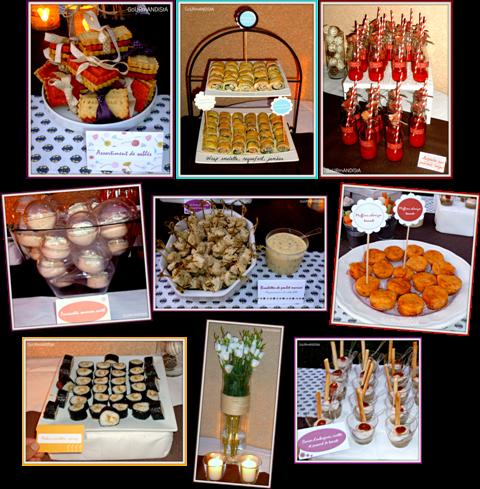 image pièces cocktail Cocktail dînatoire - thème nature -