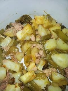 patatas y judias al microondas
