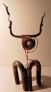 "Sculpture métal "" El Toro "" - recyclage art singulier"