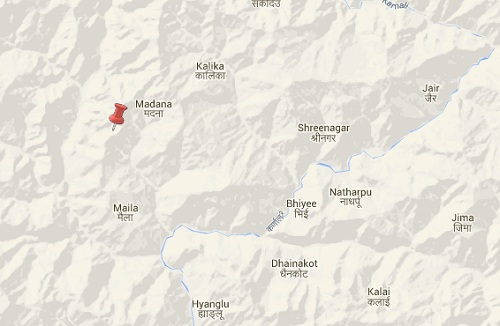 bajura earthquake epicenter map