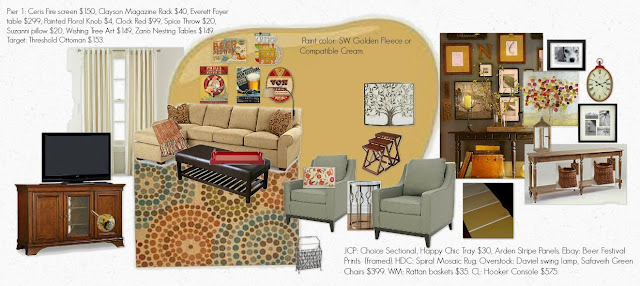 interior design services, interior design mood board
