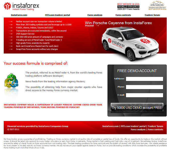 Forex website templates