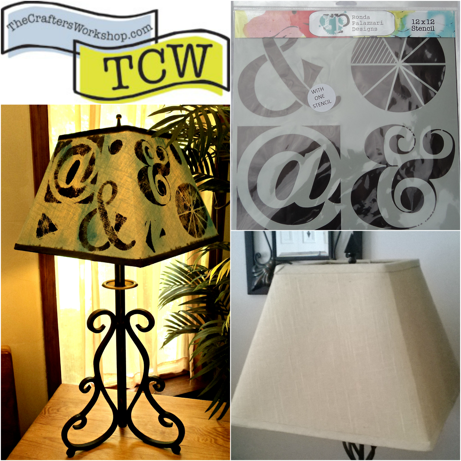 Painted lamp shade for tcw 1 stencil 4 ways series redo it painted lamp shade for tcw 1 stencil 4 ways series aloadofball Gallery