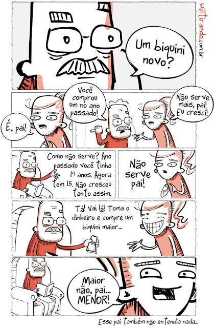 Crônica de Luís Fernando Veríssimo em quadrinhos