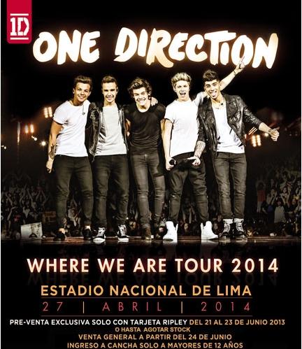 One Direction en Perú (27 abril 2014)