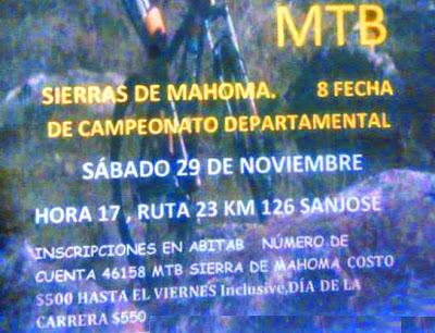 MTB en Sierras de Mahoma (54k y 27k; San José, 29/nov/2014)