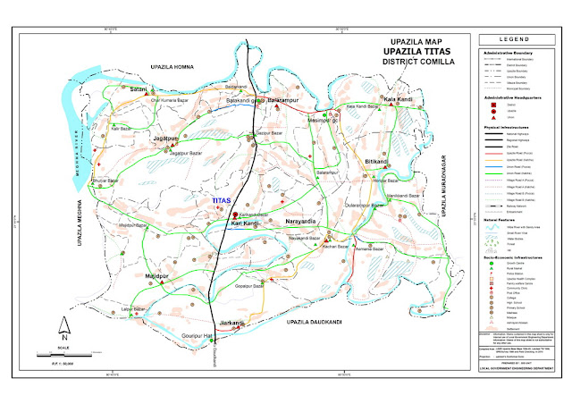 Titas Upazila Map Map of Titas Thana Bangladesh Maps District