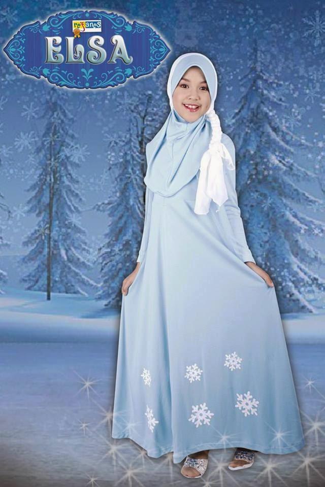 Gamis Refanes Edisi Frozen Elsa Distributor Refanes