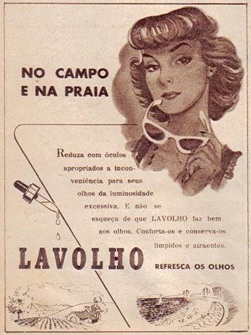 Propaganda do Colírio Lavolho veiculado na Revista O Cruzeiro nos anos 50.