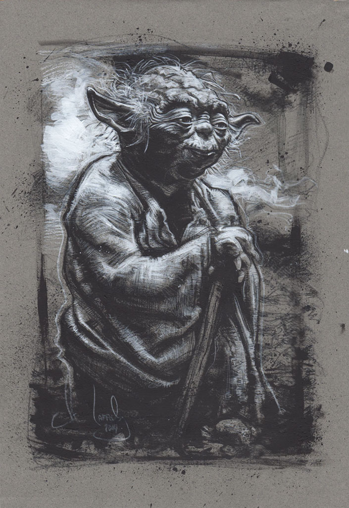 Yoda, Original Artwork, Copyright © 2014 Jeff Lafferty