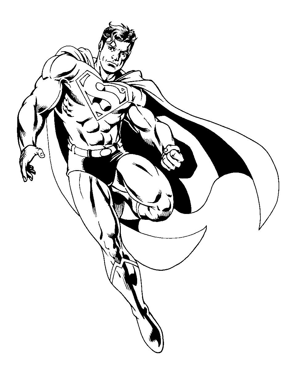 It's just a picture of Fabulous Superman Coloring Pages Printable