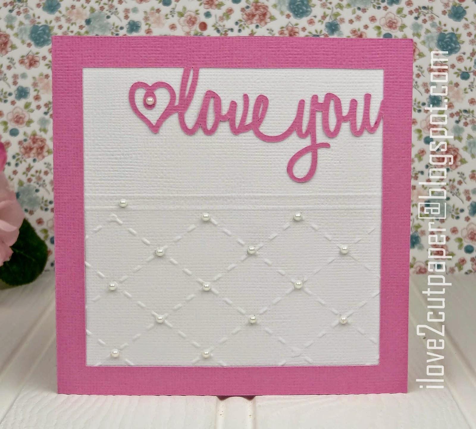 love you - svg cutting file