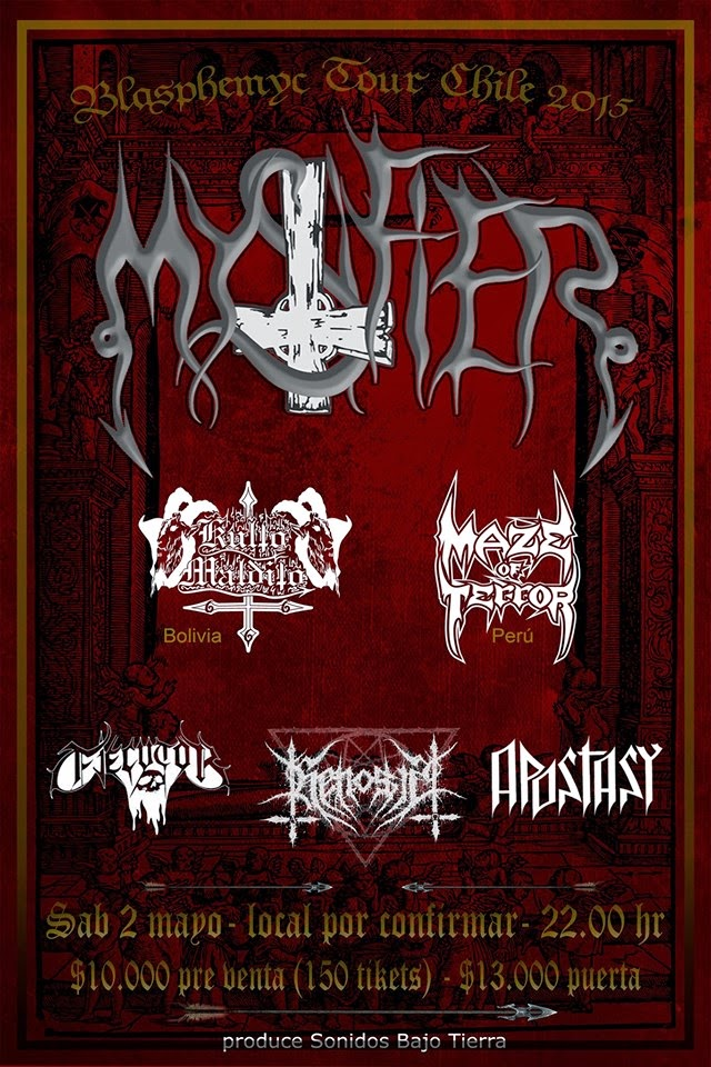 MYSTIFIER EN VALPARAISO - Blasphemyc Tour 2015