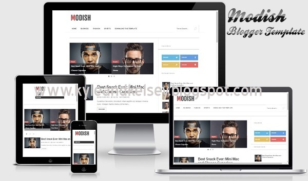 Modish Responsive Blogger Template By Sora Template