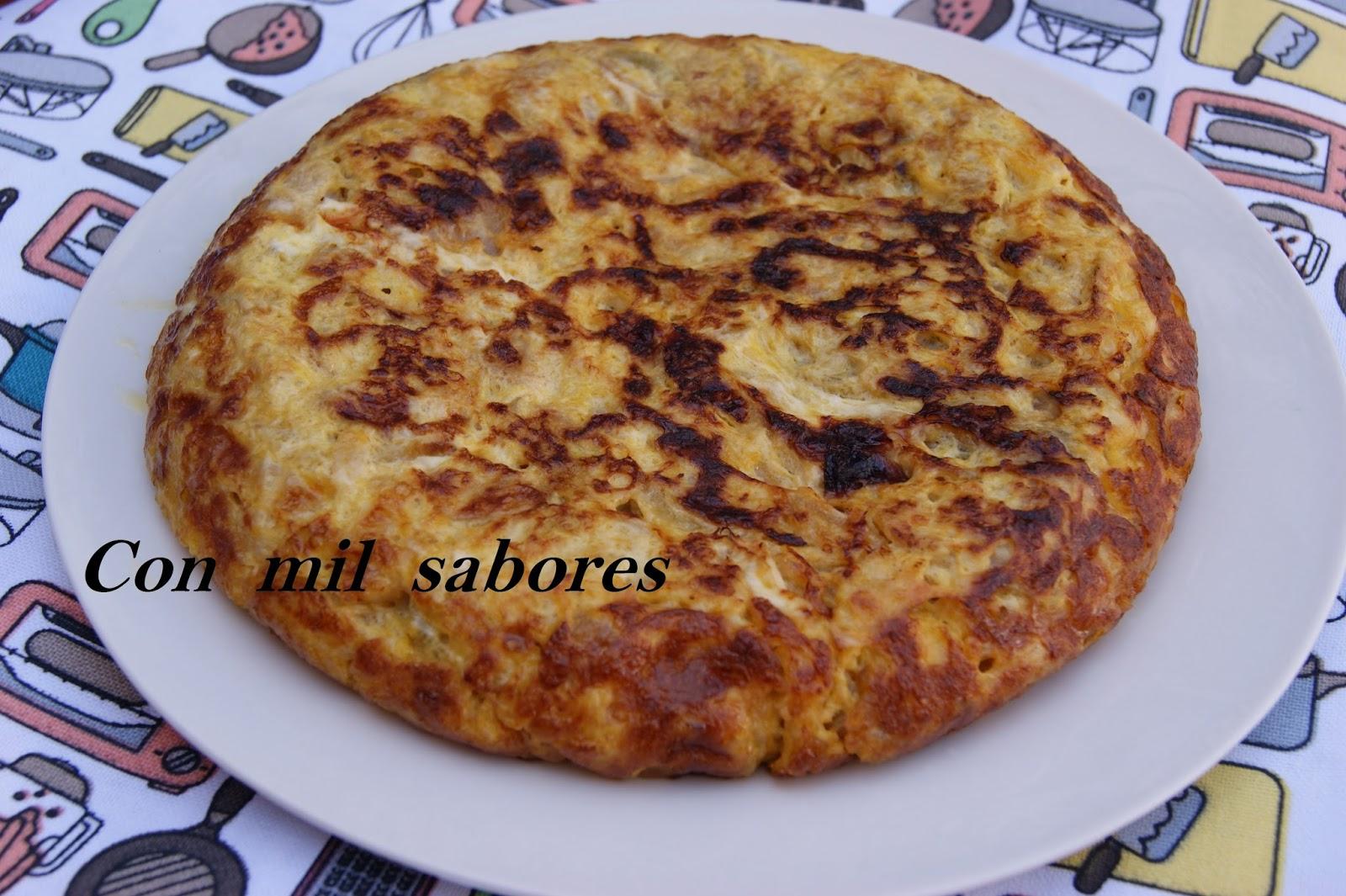 Con mil sabores tortilla de calabac n y cebolla caramelizada - Tortilla de calabacin y cebolla ...
