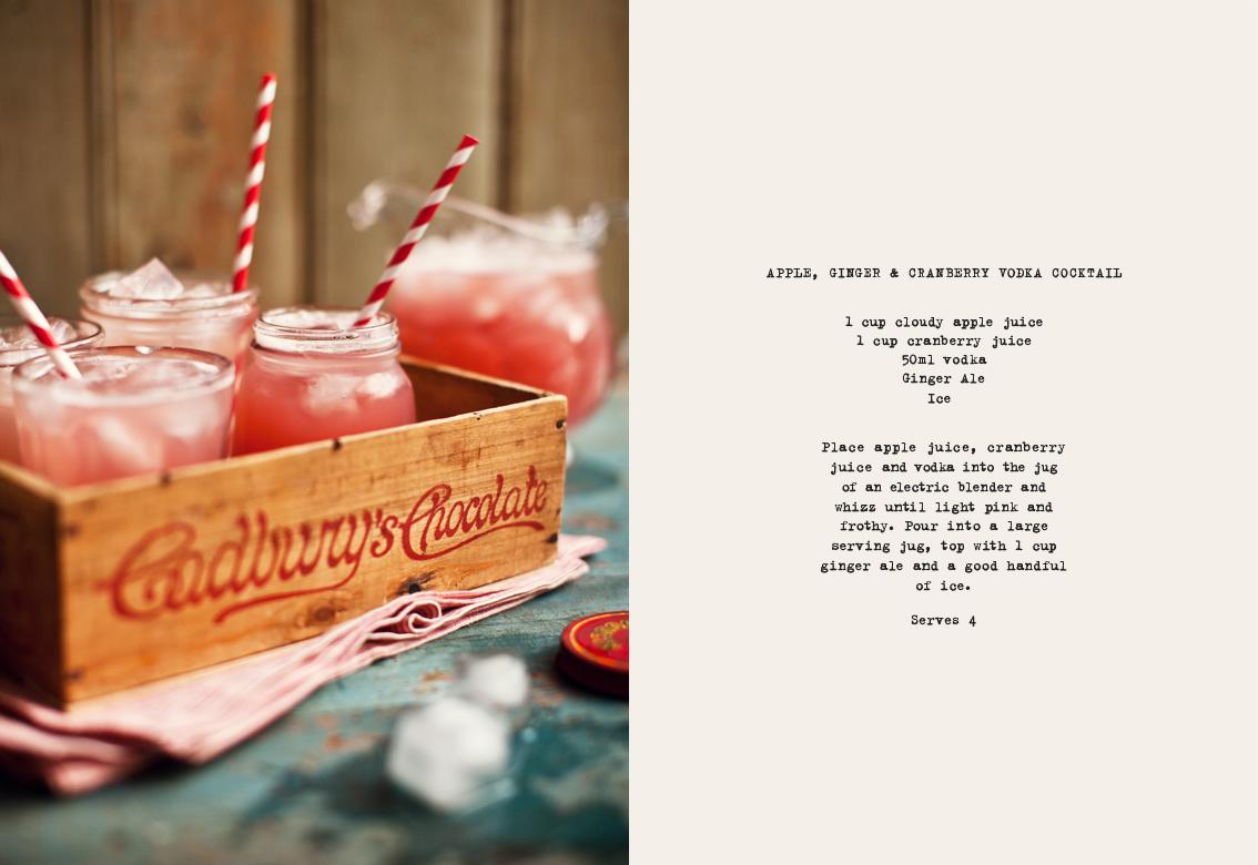 Apple, Ginger & Cranberry-Vodka Cocktail}