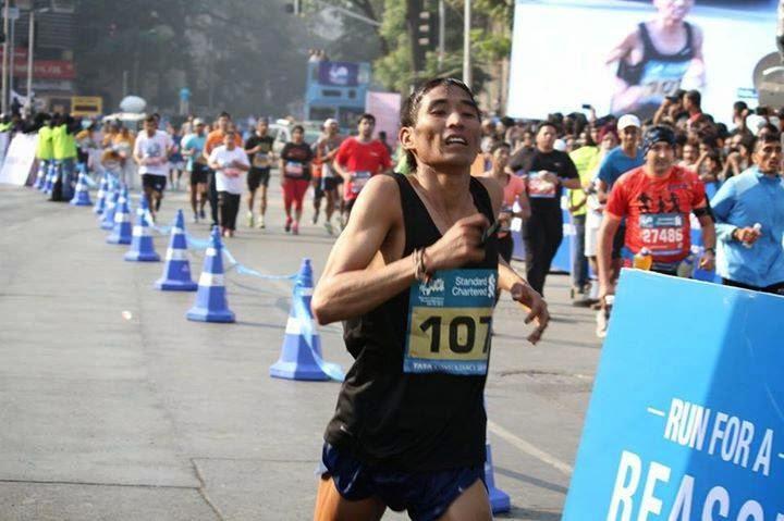 Hav. Arjun Pradhan - 2nd Amongst Indians in Mumbai Marathon