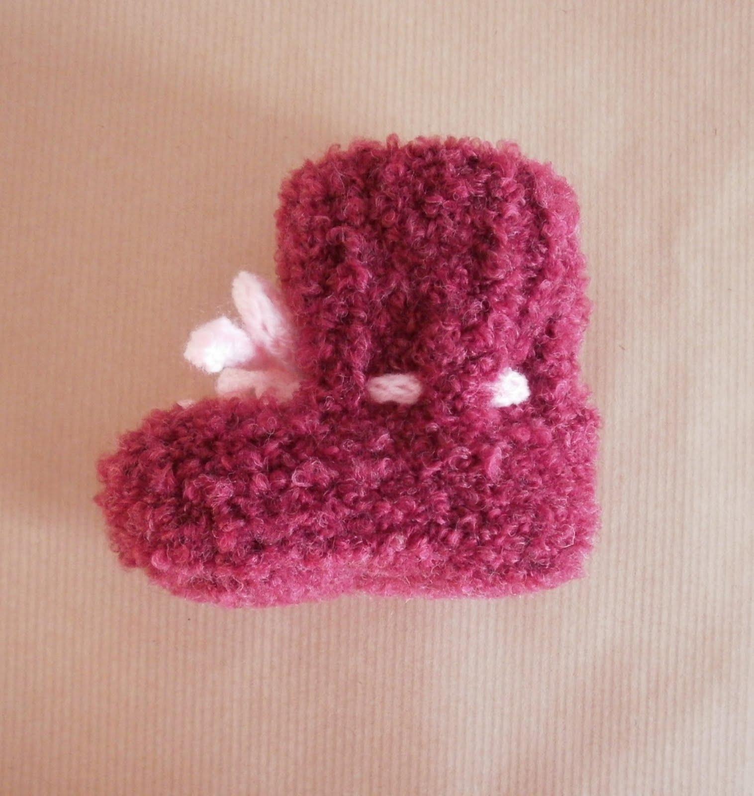 modèle tricot chausson layette