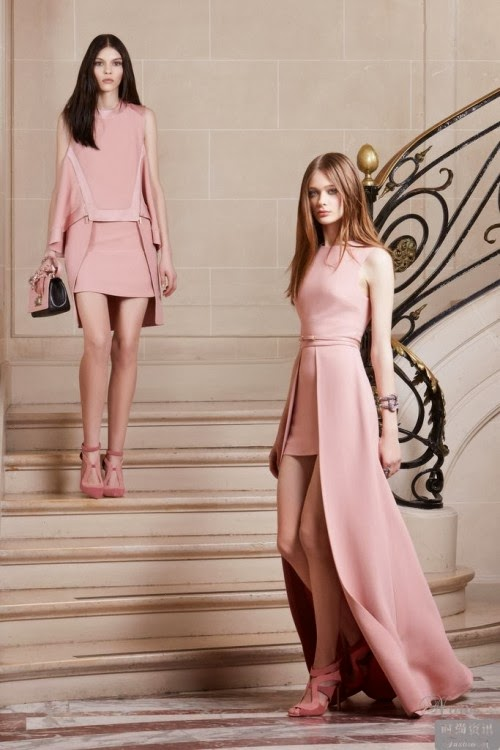 Charming Pale Pink Different Shaped Evening Dresses with High-Heeled Shoes, Handbag and Accessories, Like It