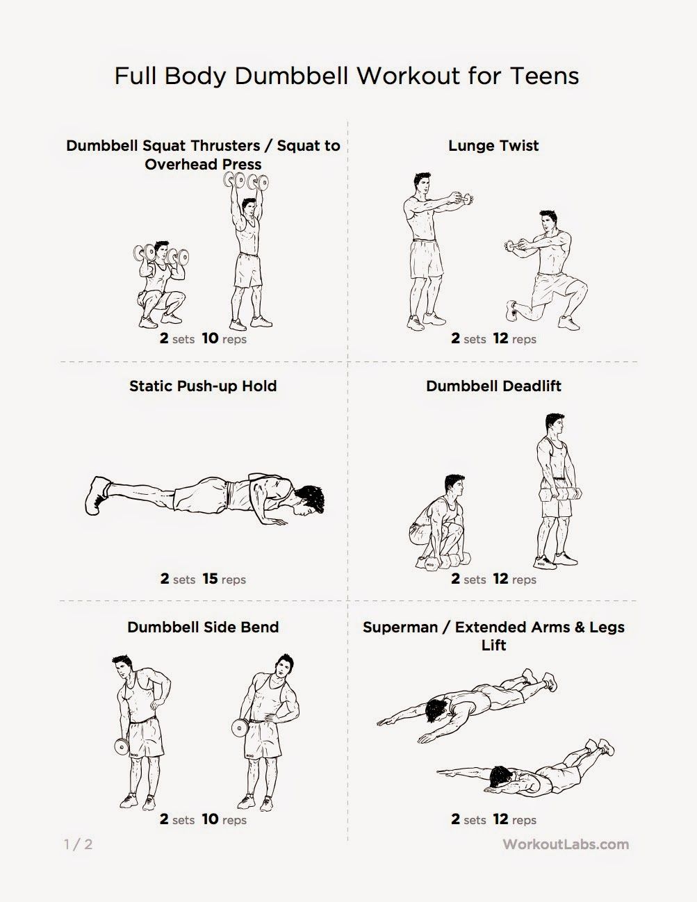 This Workout Introduces Teens To The Compound Exercises That Are Responsible For Building Strength And Endurance While Improving Posture Helping