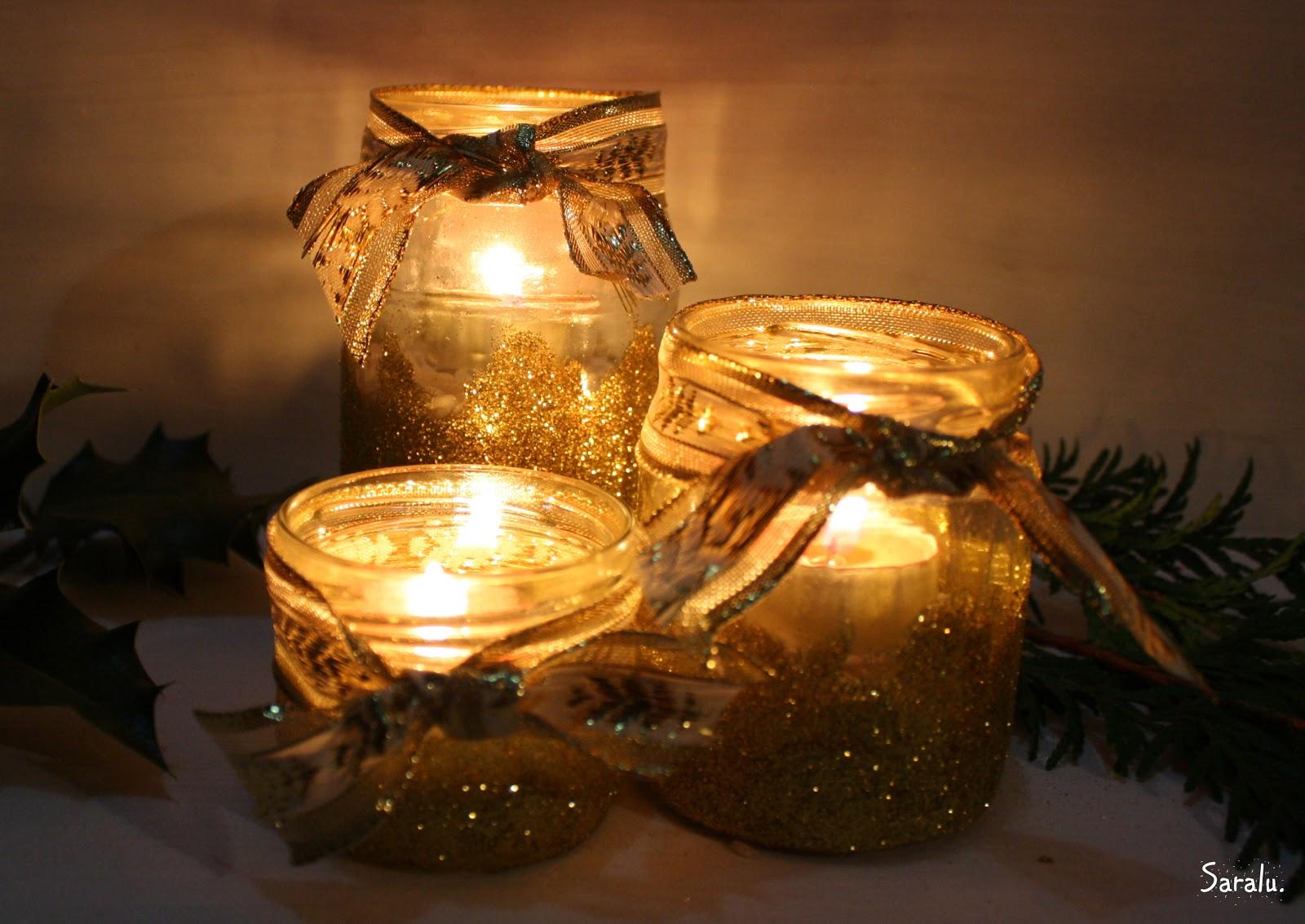 Portavelas navide os botes el nido de mam gallina - Portavelas cristal ...