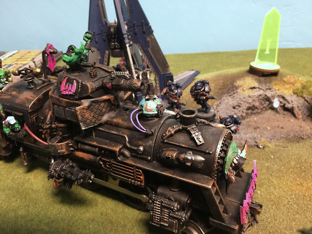 Looted Wagon, modified train, 40K train, ork steam train, ork choo choo, battle gaming one