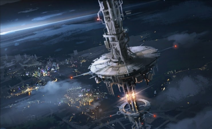 A space elevator to take human passengers and supply cargo into space
