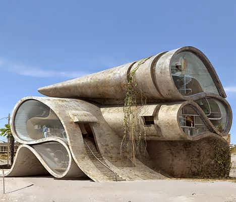 Disaster Proof Structures House Design With Architecture For Resistance From Natural Shapes Like