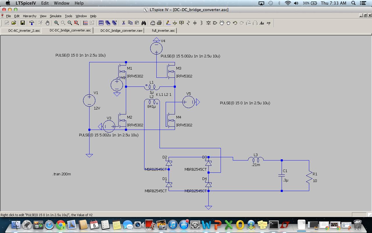 152 Final Project Full Bridge Inverter Schematic Sine Wave Generator Pure Circuit Diagram Fig Dc Converter