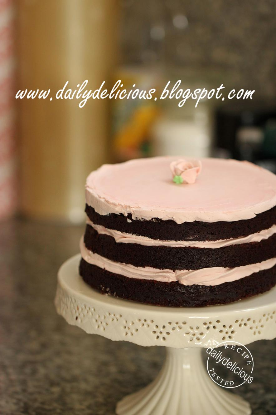 ... chocolate cake with raspberry buttercream: My version of Tomboy cake
