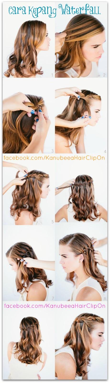 Kanubeea Hair Clip: Cara Mudah Kepang Waterfall