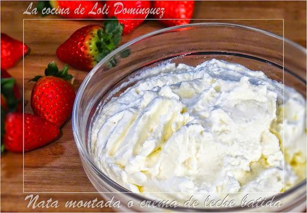 Nata montada cocinar en casa es - Como hacer nata para cocinar ...