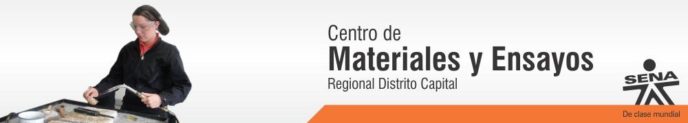Centro de Materiales y Ensayos - SENA Regional Distrito Capital