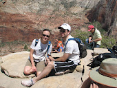 Me and Darrell at the top of angels landing in Zions