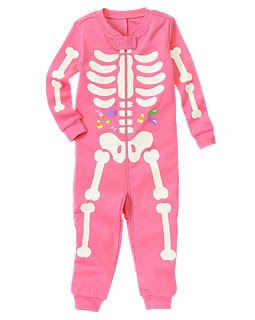 gymborees one piece pink skeleton pajamas often sell out quickly in the stores