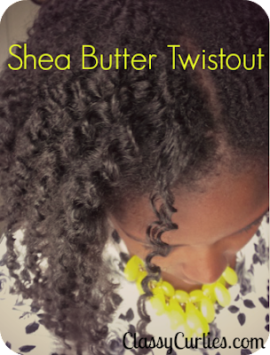 Shea butter twistout