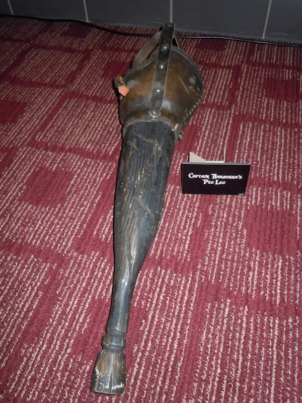 Captain Barbossa peg leg prop Pirates of the Caribbean 4