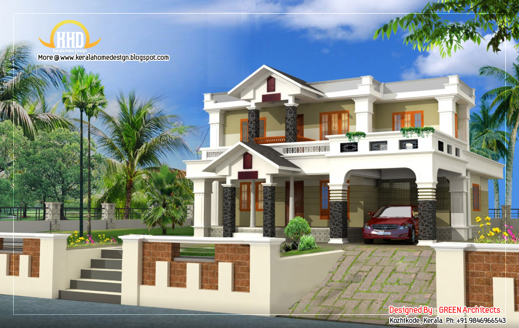 exterior collections kerala home design 3d views of residential