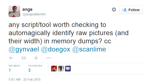 Extracting RAW pictures from memory dumps