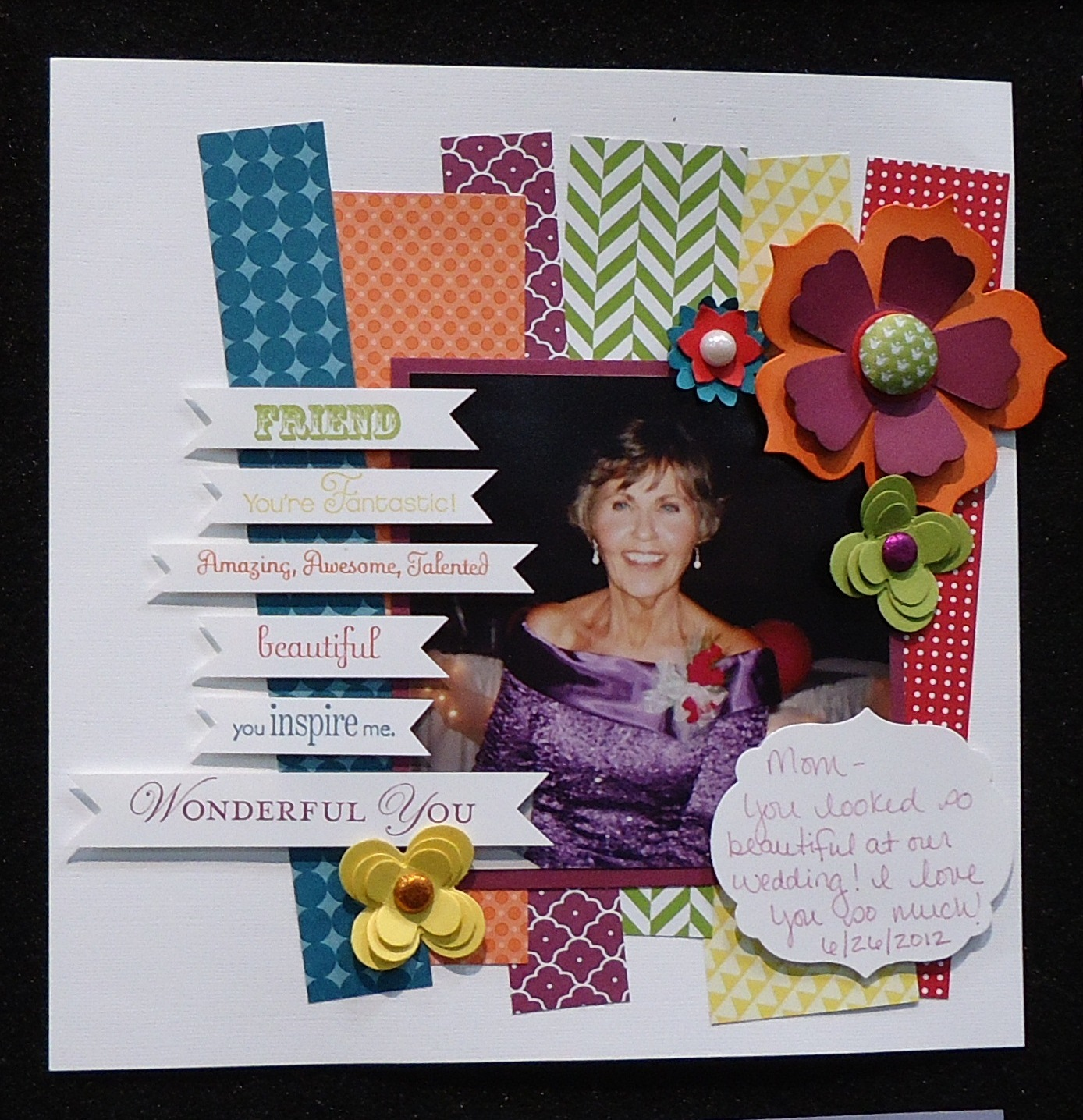 Layout with Stampin' Up! Summer Smooches DSP
