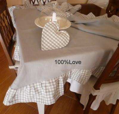 100 love profumo di lino - Coordinati cucina country ...
