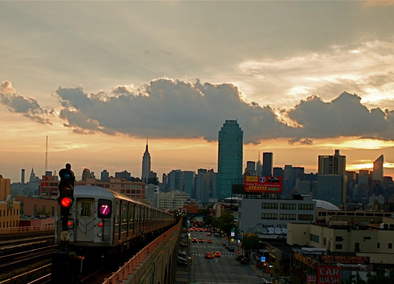 Nyc  U2665 Nyc  Sunset Over Manhattan