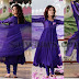 Nisha Agarwal in Purple Plain Salwar
