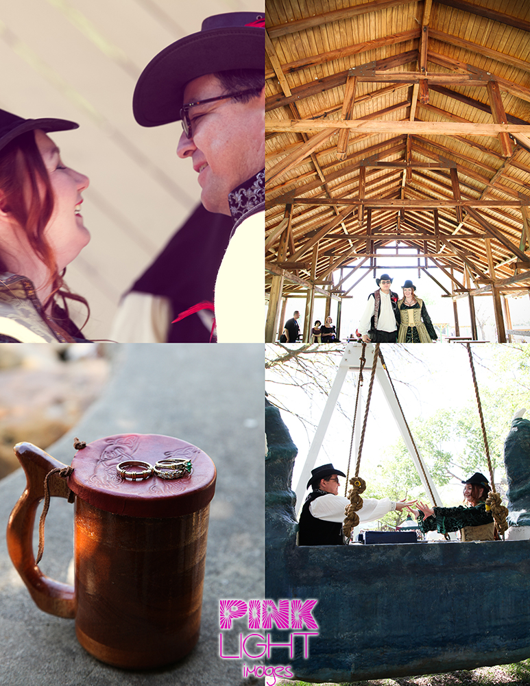 Scarborough Renaissance Festival wedding with fun images of dragons, elephant and the venues on site