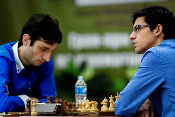 Échecs : Anish Giri (2776) 1-0 Baadur Jobava (2699) - Photo � Kirill Merkurev