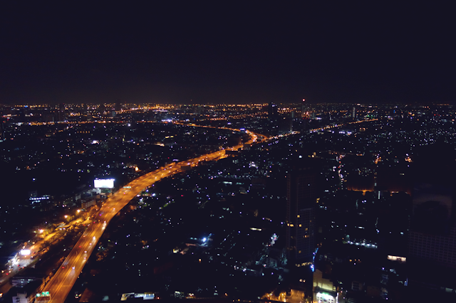 Thailand, Bangkok, Sky Bar, City, Night
