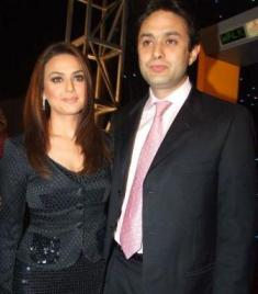 Preity Zinta with her Husband Photo